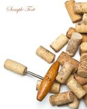 Corkscrews and corks. Stock Images