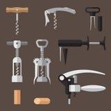 Corkscrews set Stock Photos