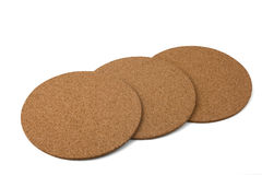 Corkwood coasters Stock Images