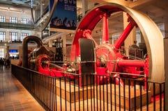 Corliss蒸汽引擎 科技馆,伦敦,英国 免版税库存图片