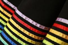 Corlorful hem of fashion skirt Royalty Free Stock Photo