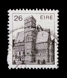 Cormac-Chapel 12th Cty. Rock of Kashel, Irish Architecture Definitives 1982-1990 serie, circa 1982 Royalty Free Stock Image