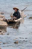 Cormorant fisherman Stock Images