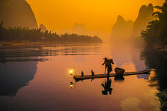 Free Cormorant Fisherman Stock Image - 27321891