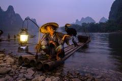 Cormorant Fisherman On The Li River Royalty Free Stock Photo