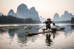 Cormorant fisherman Stock Photography