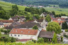 Cormoyeux Champagne. The village of Cormoyeux with vineyards in the Champagne district near Epernay in France Stock Photography