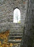 CornÅ ¡ tejn Castel, Moravia, tjeckisk republik Arkivbilder