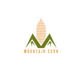Corn with abstract mountains vector design Royalty Free Stock Image