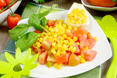 Free Corn And Tomato Salad Royalty Free Stock Images - 30967699