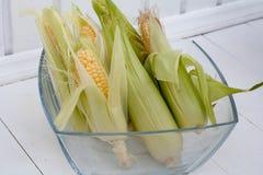 Corn autumn cottage Siberia fruit vitamins Royalty Free Stock Photography