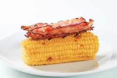 Corn and bacon Stock Photo