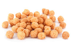 Corn balls snack on white Stock Photo