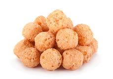 Corn balls snack on white Royalty Free Stock Photography