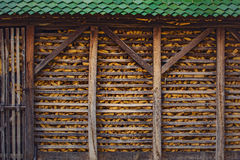 Corn barn on the farm Royalty Free Stock Photo
