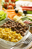 Corn and beans  Royalty Free Stock Photos