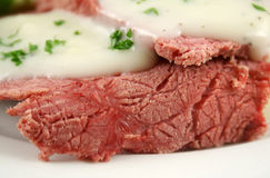 Corn Beef And White Sauce Royalty Free Stock Images