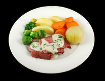 Corn Beef And White Sauce Stock Photos