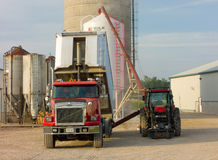 Corn being transferred to a silo Royalty Free Stock Photos