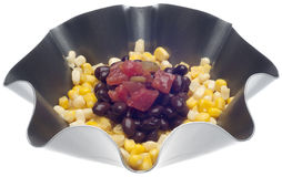 Corn, Black Beans and Tomatoes Stock Photo