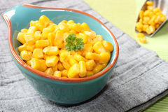 Corn in a bowl Stock Photography