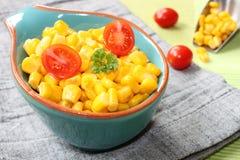 Corn in a bowl Royalty Free Stock Photos