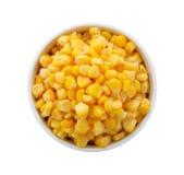 Corn in a bowl Stock Photo