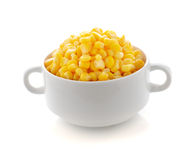 Corn in a bowl Royalty Free Stock Photo