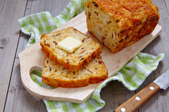 Corn bread with bacon and cheddar Stock Photography