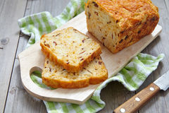 Corn bread with bacon and cheddar Royalty Free Stock Images