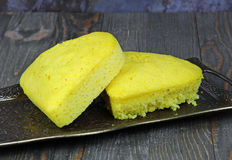 Corn bread cake Stock Images