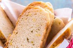 Corn Bread. Fresh corn bread close up stock photo Stock Photo