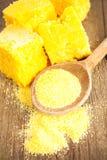 Corn bread. Healthy natural food stock photo