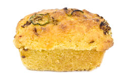 Corn Bread with Jalapeno Peppers Royalty Free Stock Photo