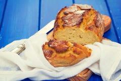 Corn bread with napkin Stock Photo