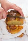 Corn bread with napkin Stock Photography