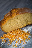 Corn bread, on the wooden table Stock Photo