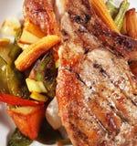 Corn and Brisket of Pork Stock Photo