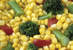 Corn Broccoli Vegetable Mix. Healthy variety of vegetable pieces mixed together Stock Photography