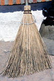 Corn broom. Hand made corn broom found at a flea market Royalty Free Stock Photos