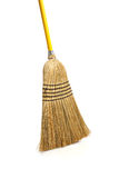 Corn broom on white background Royalty Free Stock Images