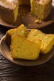 Corn cake. Traditional Brazilian treats made of corn. Royalty Free Stock Photos