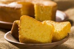 Corn cake. Traditional Brazilian treats made of corn. Stock Photos