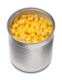 Corn in can Stock Photo