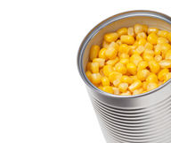 Corn in can Royalty Free Stock Photos