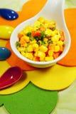 Corn and carrots Stock Photos