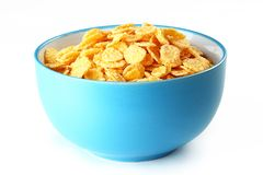 Corn in ceramic bowl on table Royalty Free Stock Photo