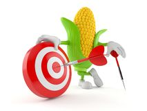 Free Corn Character With Bull`s Eye Stock Photo - 143695910