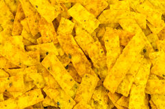 Corn chip strips background Stock Photography