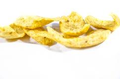 Corn chipe ganz heraus spreed Stockfotografie